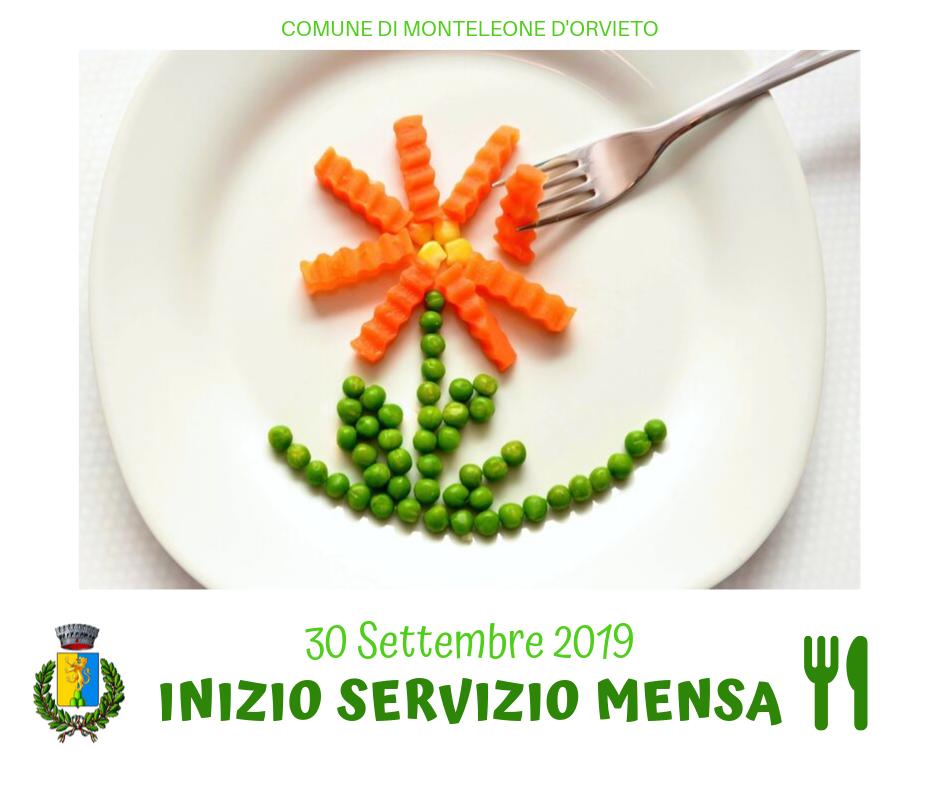 INIZIO MENSA DAL 30 SETTEMBRE 2019