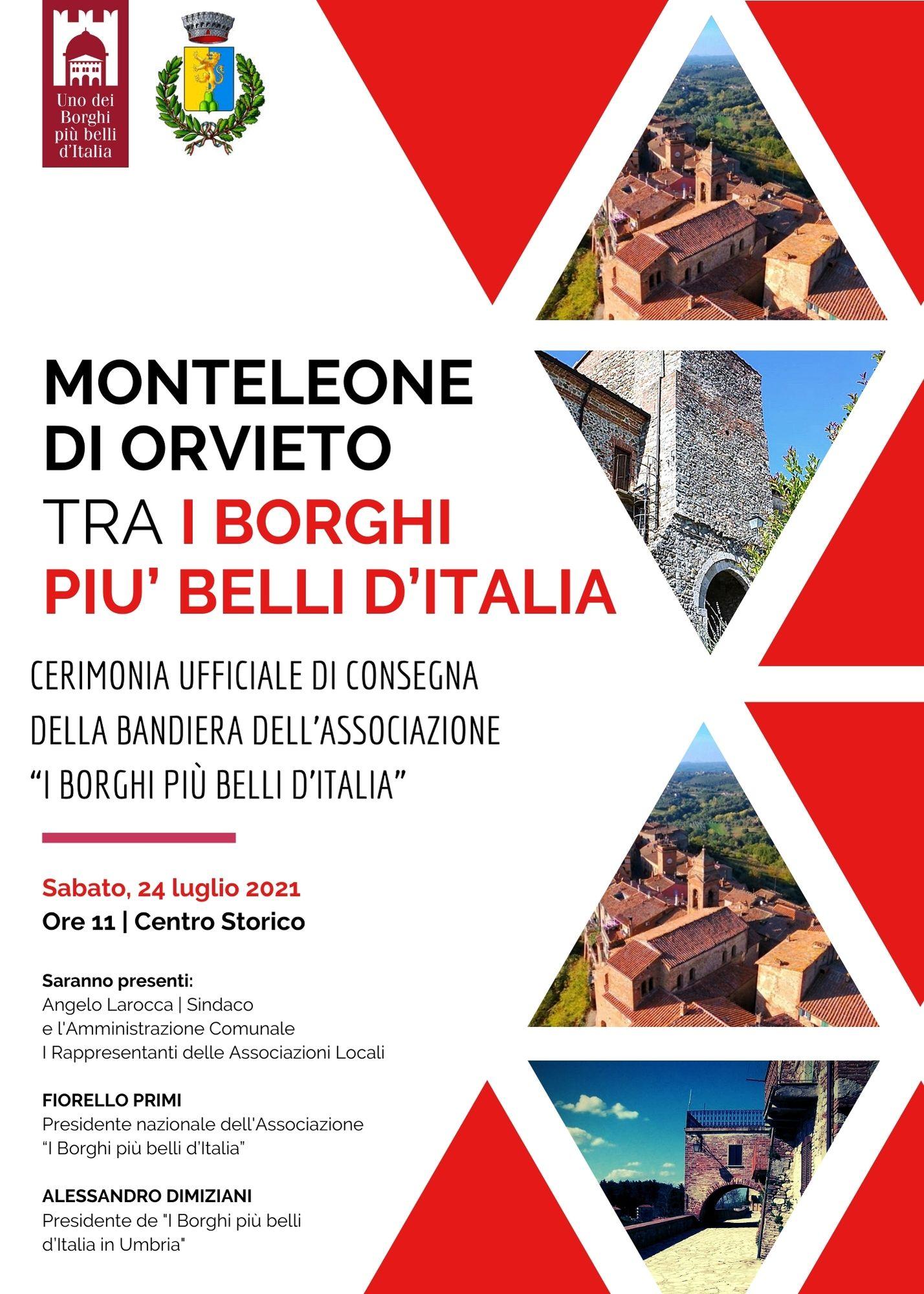 Monteleone d'Orvieto riceve la bandiera de