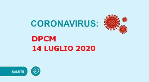 Coronavirus, il Presidente Conte firma il Dpcm 14 luglio 2020