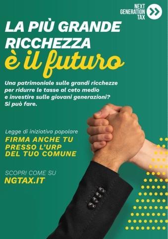 La ricchezza è il futuro, petizione sulla next generetion tax