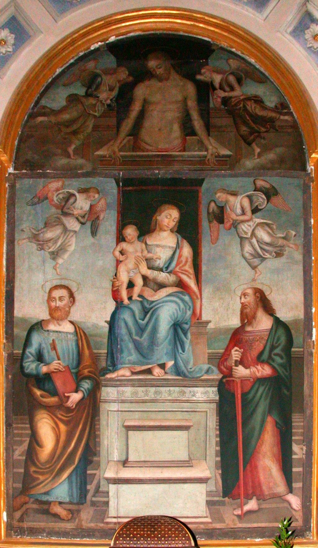 Madonna con il Bambino tra gli Apostoli Pietro e Paolo